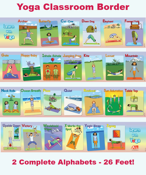 Learn with yoga abc classroom border for kids altavistaventures Images