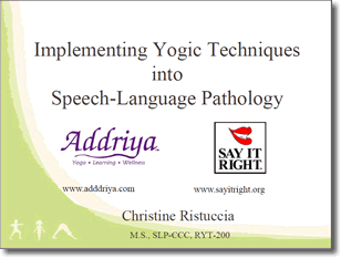 Yoga and Speech Therapy