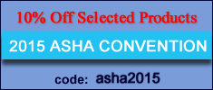 10% off for ASHA Convention 2015