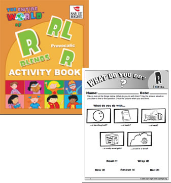 Entire World of Rblends Activity Book (Digital Downloads)