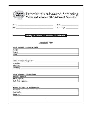 Interdentals-th screening (Digital Download)