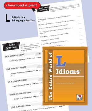 The Entire World of  L Idioms  (Digitial Download)