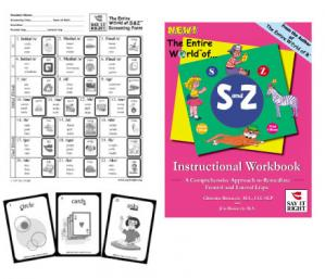 The Entire World of S and Z Instructional Workbook  and Screening Kit Combo  Contains: EWS-001 EWS-003