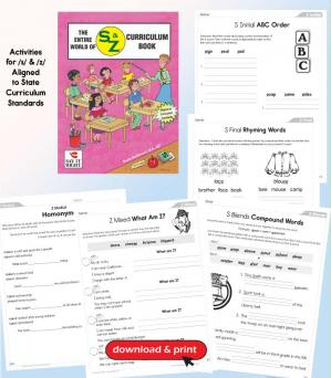 The Entire World of S & Z Curriculum Book (Digital Download)